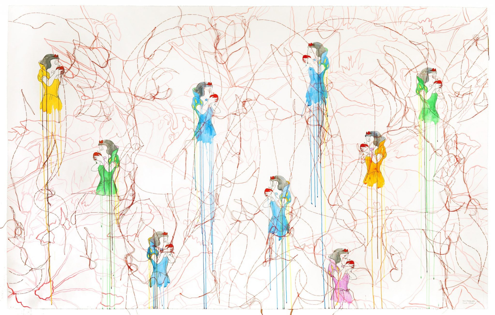 Reza Farkhondeh and Ghada Amer, Apples and Petunias (2011)