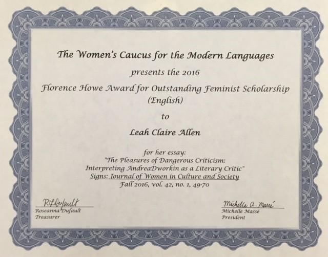 allen certificate