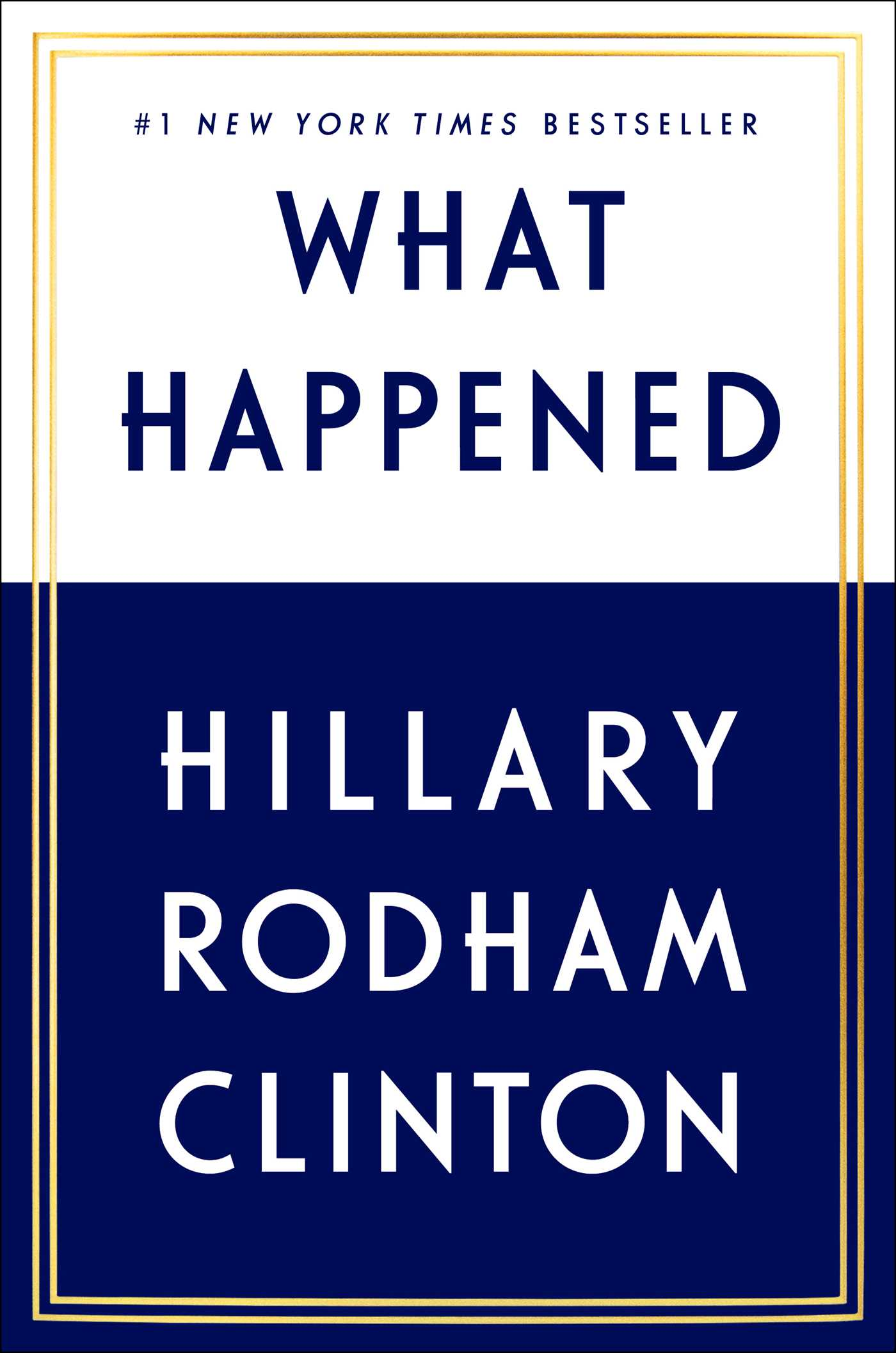 Hillary Clinton - What Happened Cover