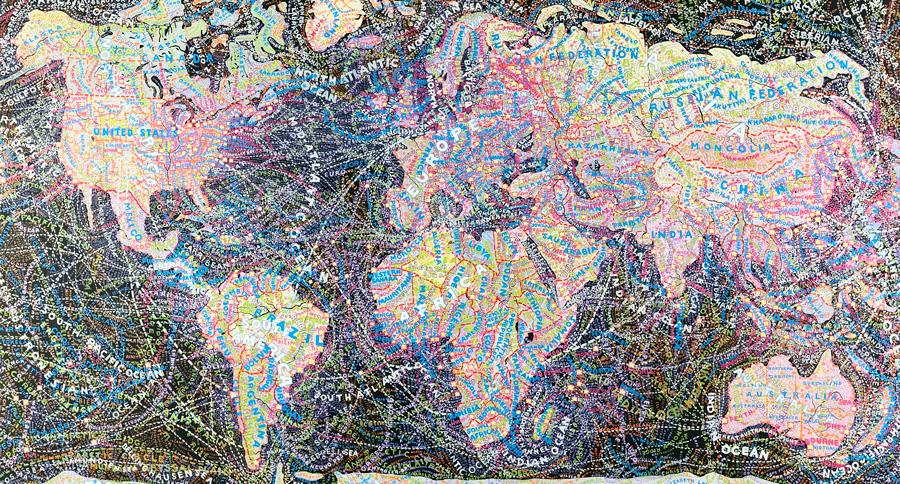 Paula Scher, World Trade,