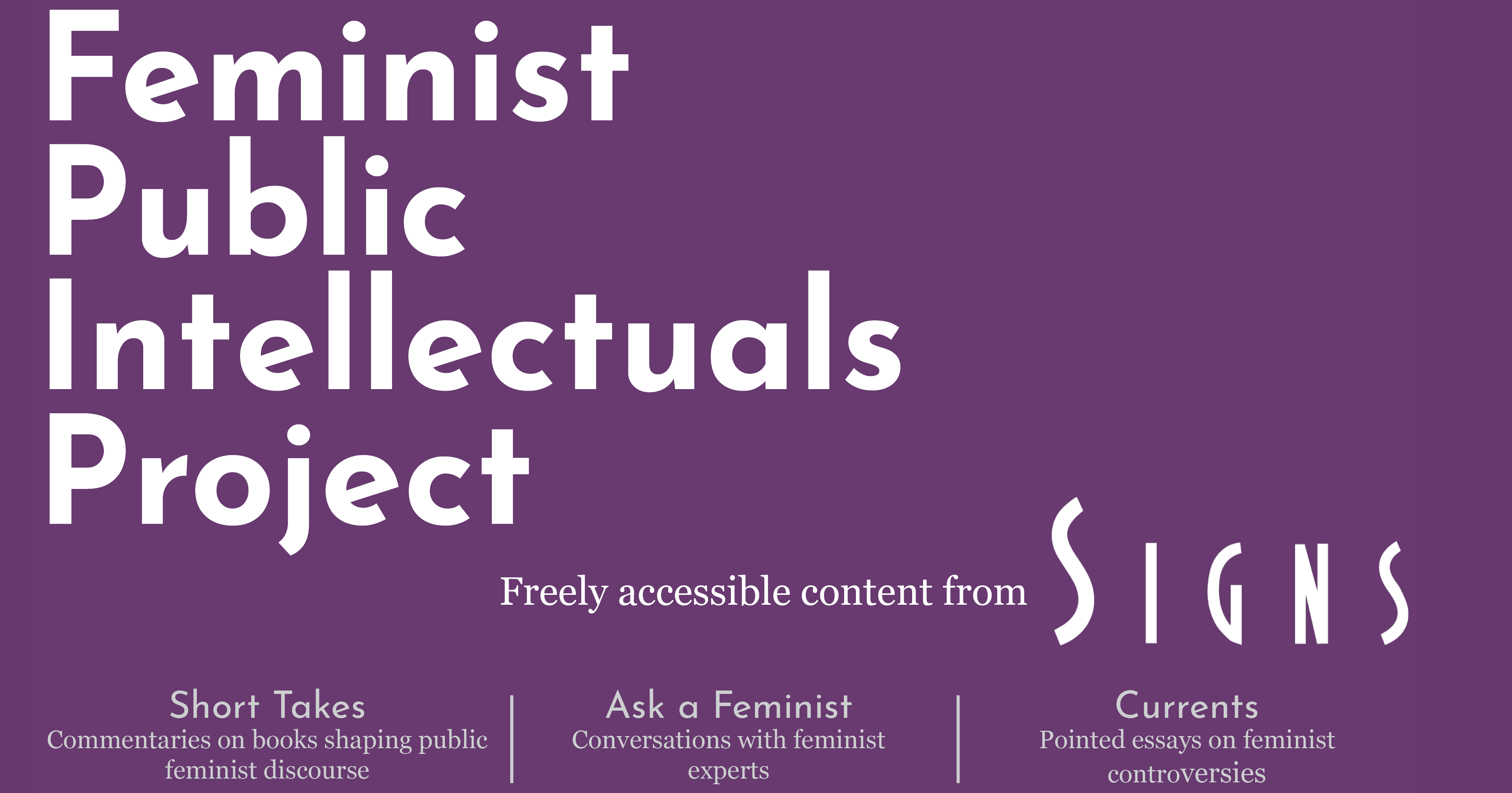 Feminist Public Intellectuals Project  Signs Journal Of Women In  Feminist Public Intellectuals Project  Signs Journal Of Women In Culture  And Society