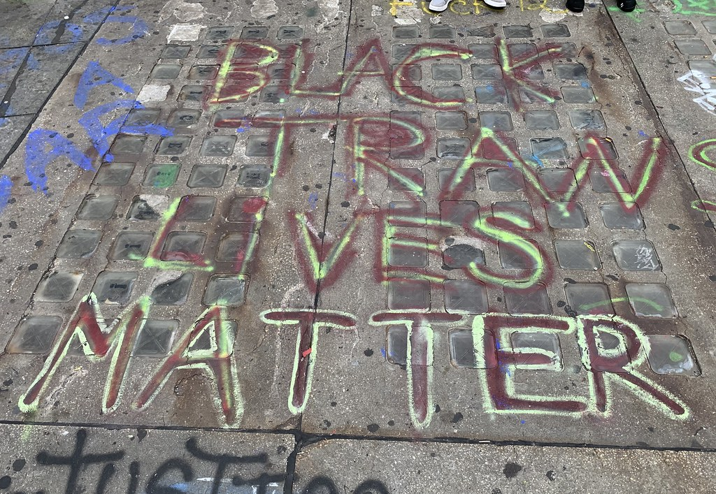 Black Trans Lives Matter street art