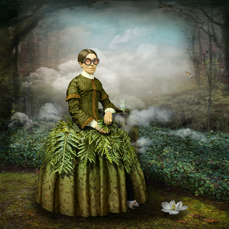 Maggie Taylor, Reluctant Optimist, 2013. Archival pigment print, 22 x 22 in.